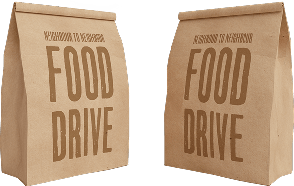 food drive paper bags images