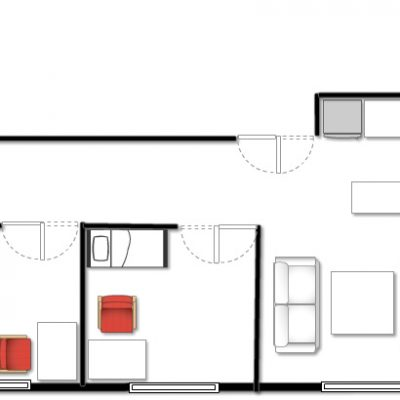 Townhouse residence floor plan