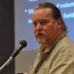 Alan Hansell speaks at The Chedoke Story event