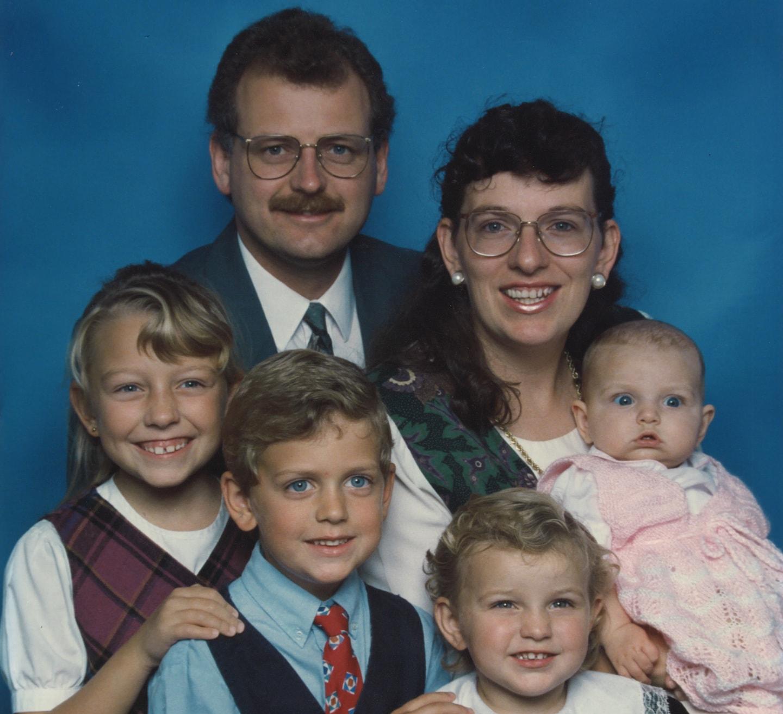 The Benjamins family in 1997.