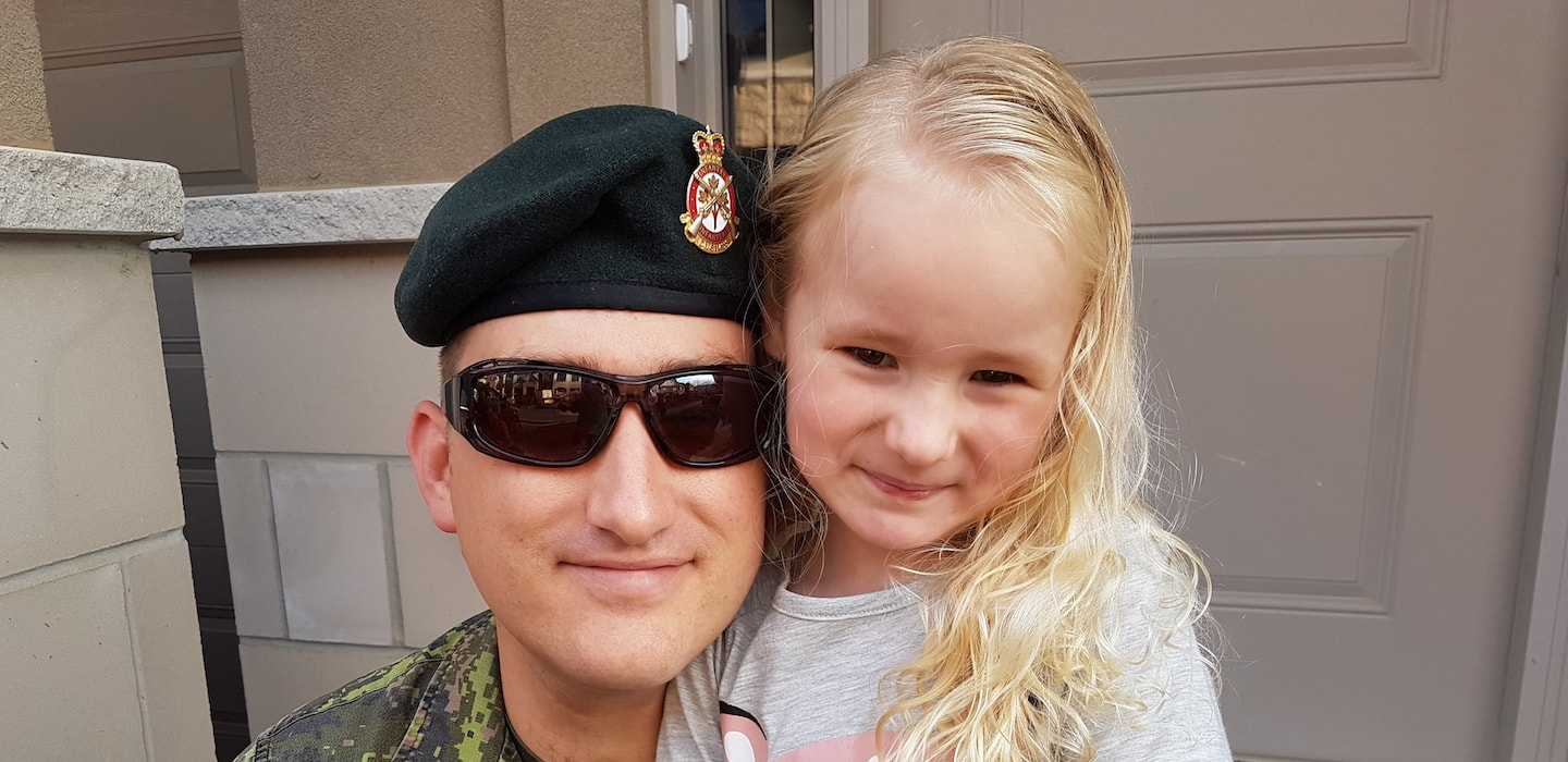 James Buck with daughter.