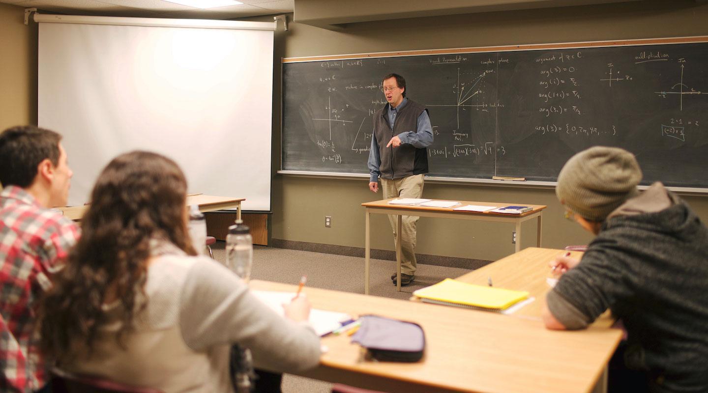 Dr. Kevin Vander Meulen teaching.