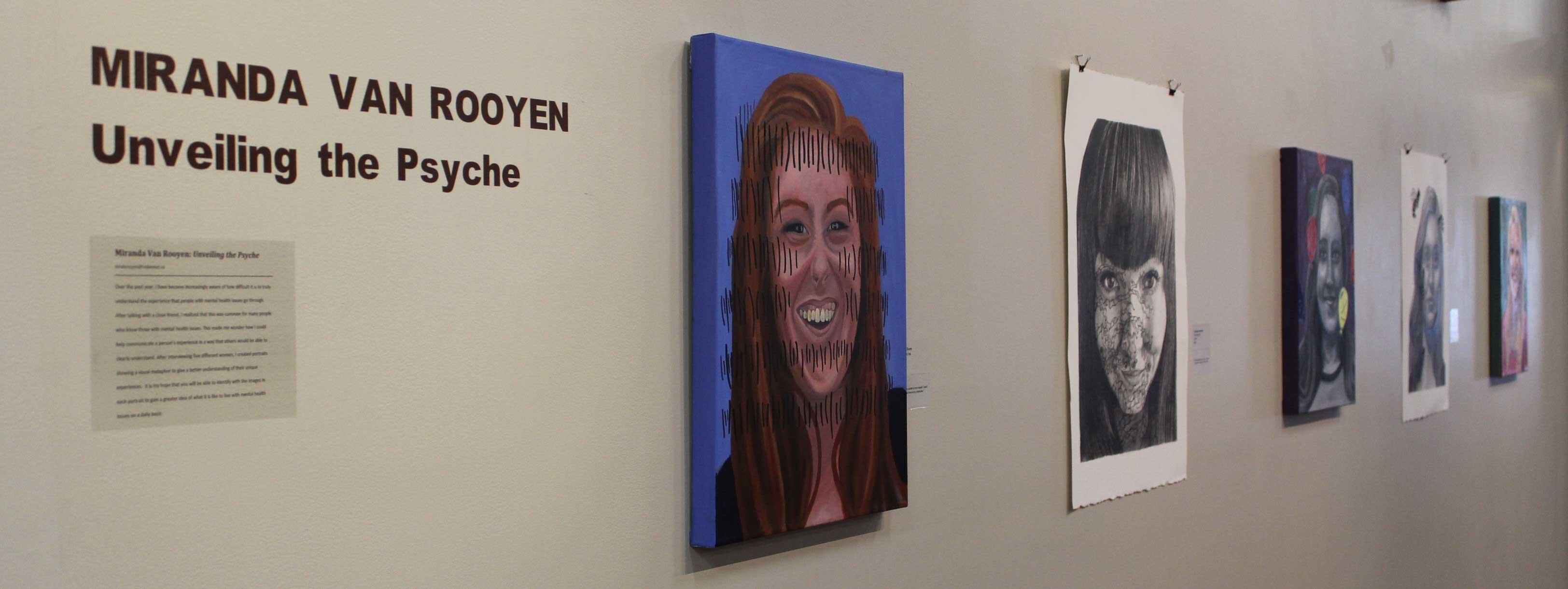 Miranda Van Rooyen's art exhibit.